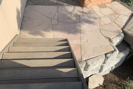 Flagstone landing at a home in Black Forrest Colorado