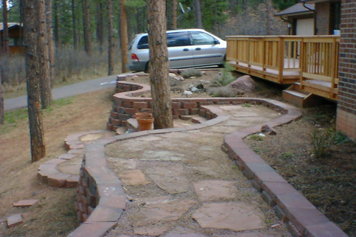 retaining walls dail u0026 son landscaping monument castle rock